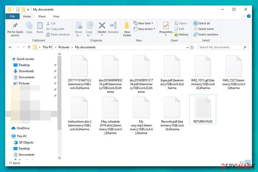 Kharma ransomware encrypted files
