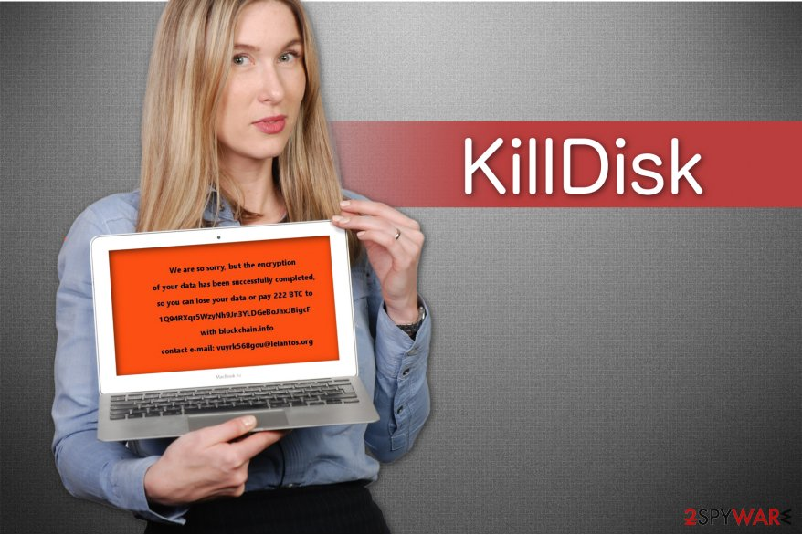 The illustration of KillDisk ransomware virus