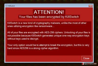 KillSwitch ransomware virus
