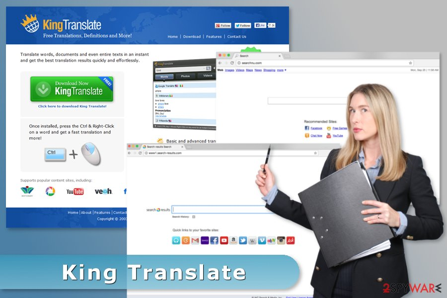 The example of King Translate virus
