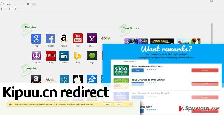 Kipuu.cn virus in a web browser