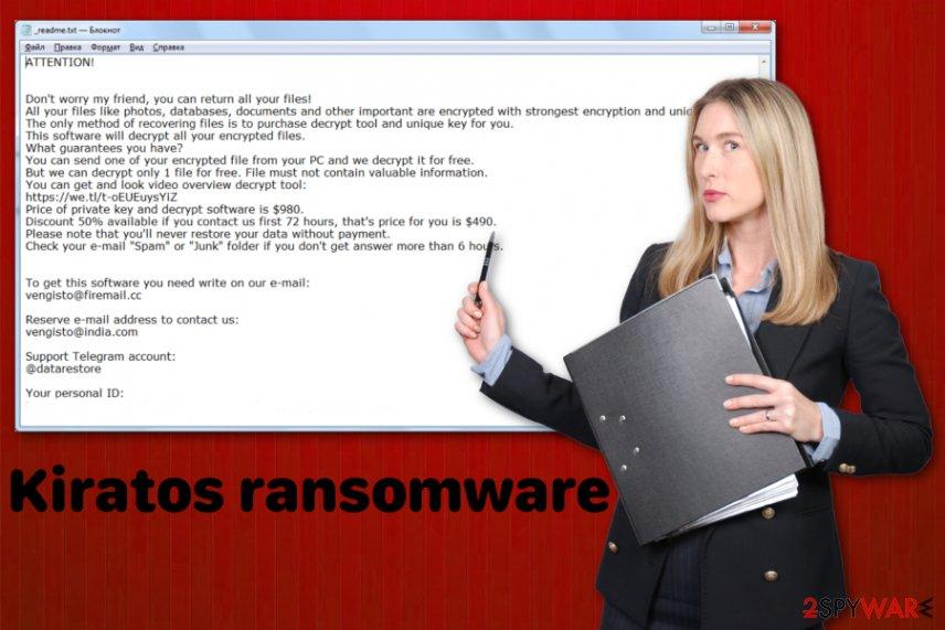 Kiratos ransomware virus