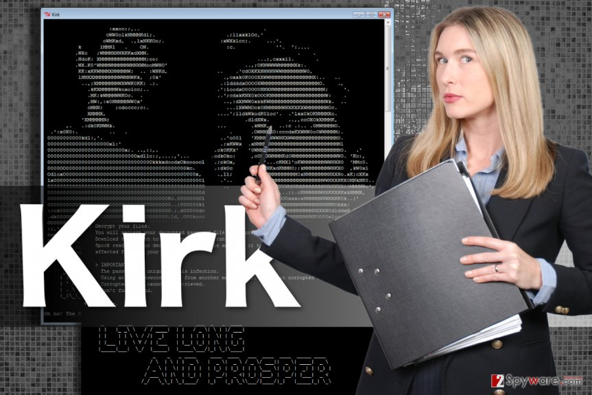 Image of the Kirk ransomware virus