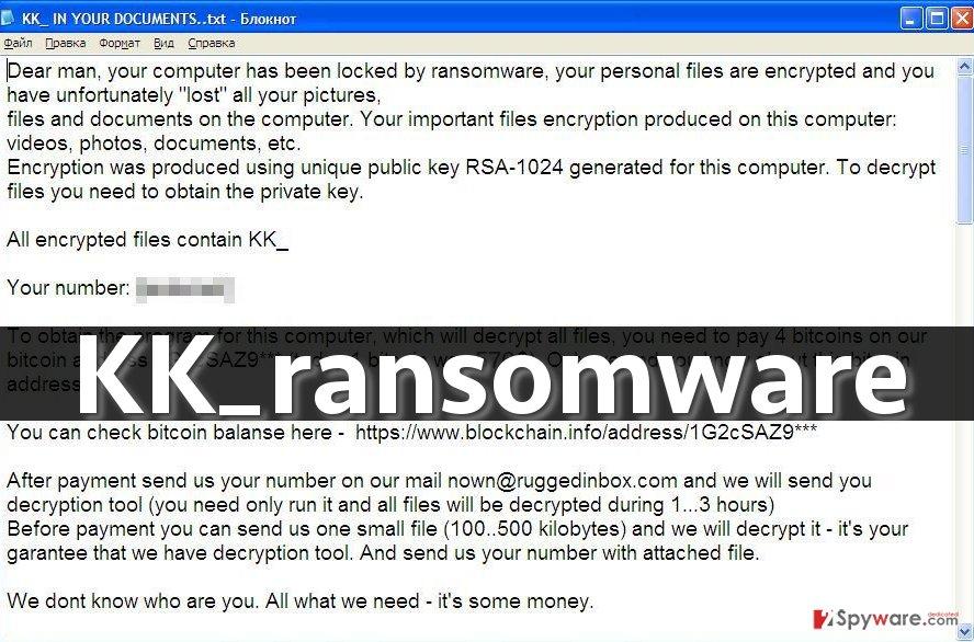 KK_ ransomware note