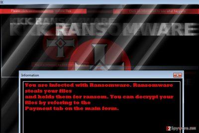The image of KKK ransomware