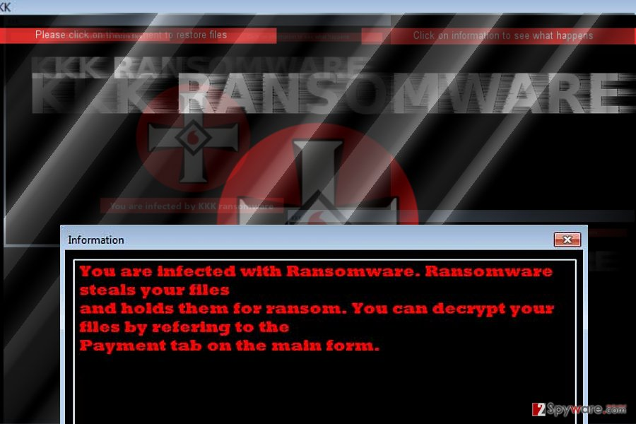 The image of KKK ransomware