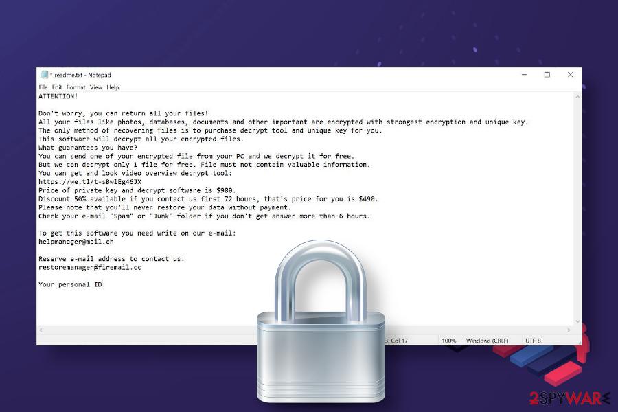 Kkll ransomware