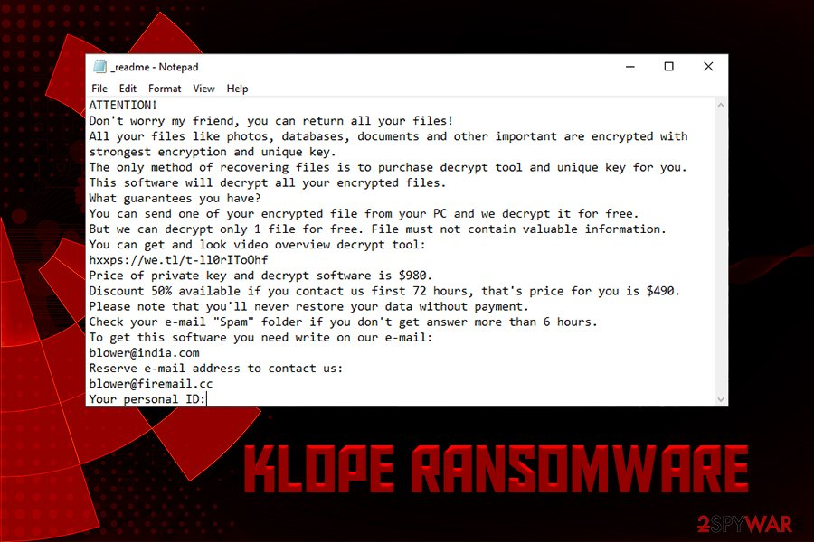 Klope ransomware