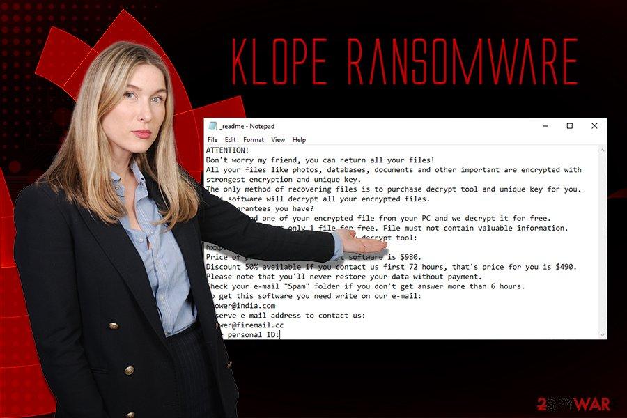 Klope ransomware virus