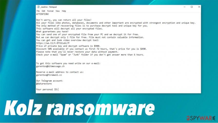 Kolz ransomware