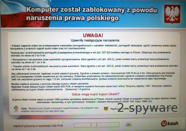 Komputer zostal zablokowany naruszenia prawa polskiego
