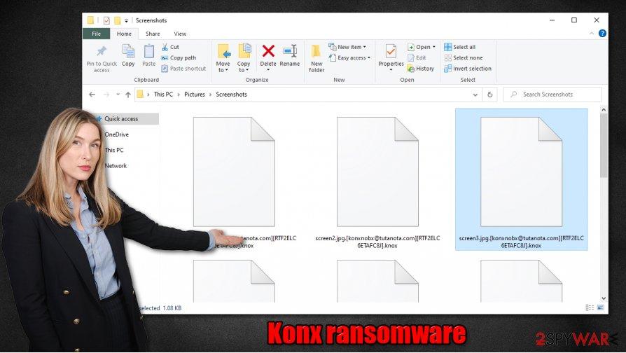 Konx ransomware virus