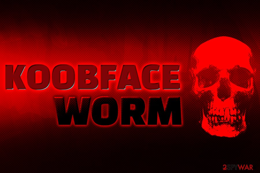 Koobface worm infection