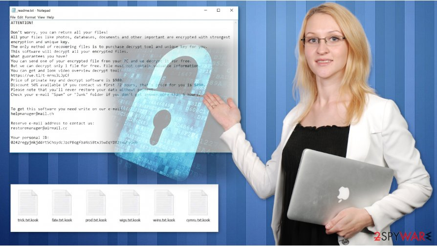 Kook ransomware virus