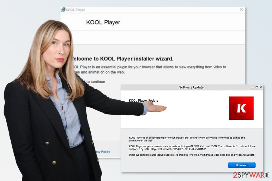 Picture of KOOL Player virus