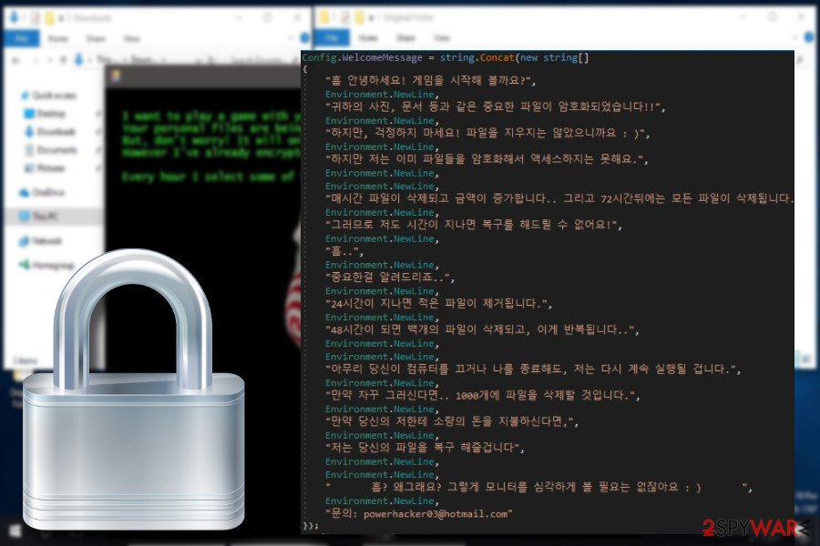 Jigsaw ransomware version from Korea