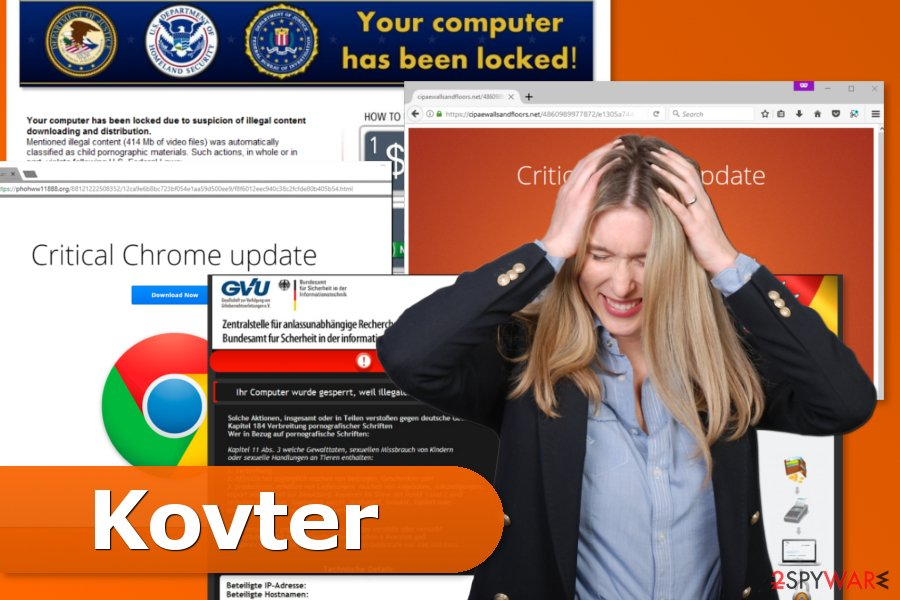 The examples of Kovter malware