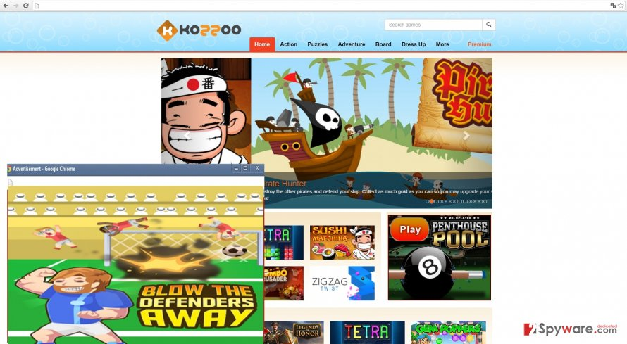 The image showing Kozzoo ads