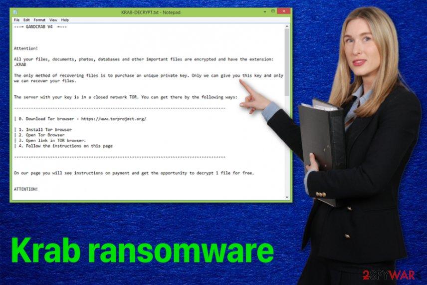 Krab ransomware virus