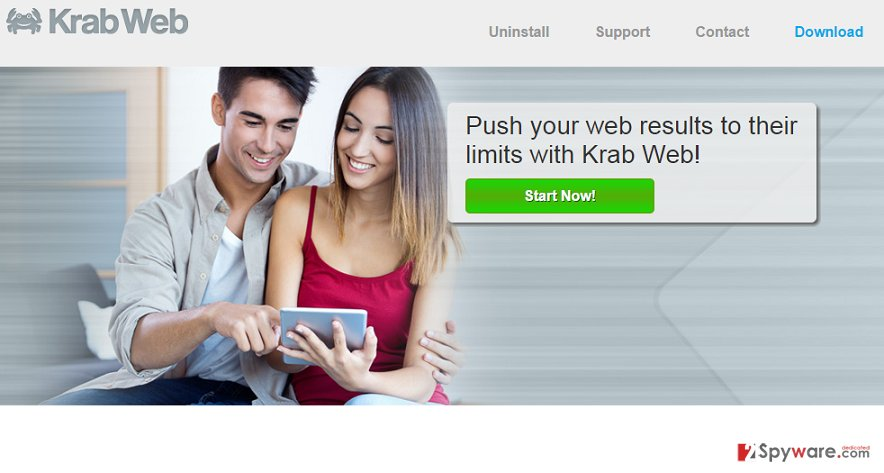 Krab Web virus snapshot