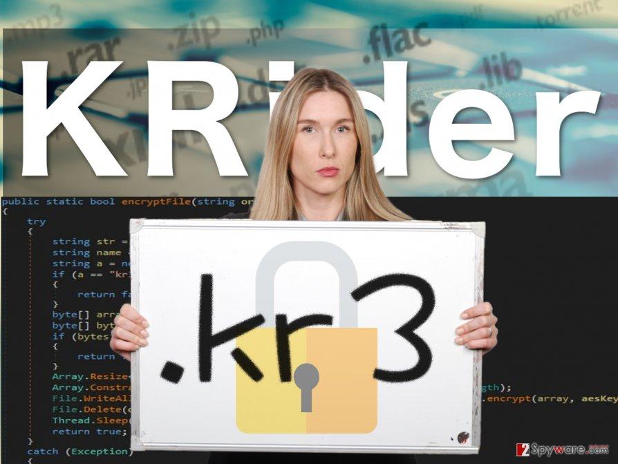 Image of the KRider ransomware virus