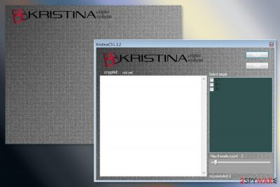 The picture of Kristina ransomware virus