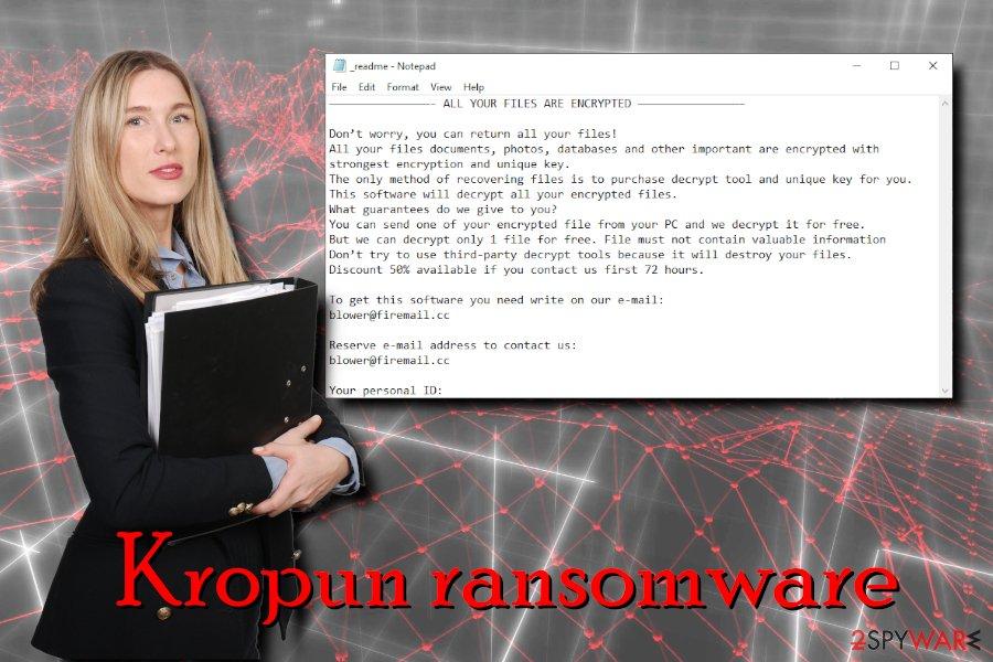 Kropun ransomware virus