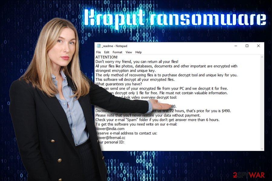 Kroput ransomware virus