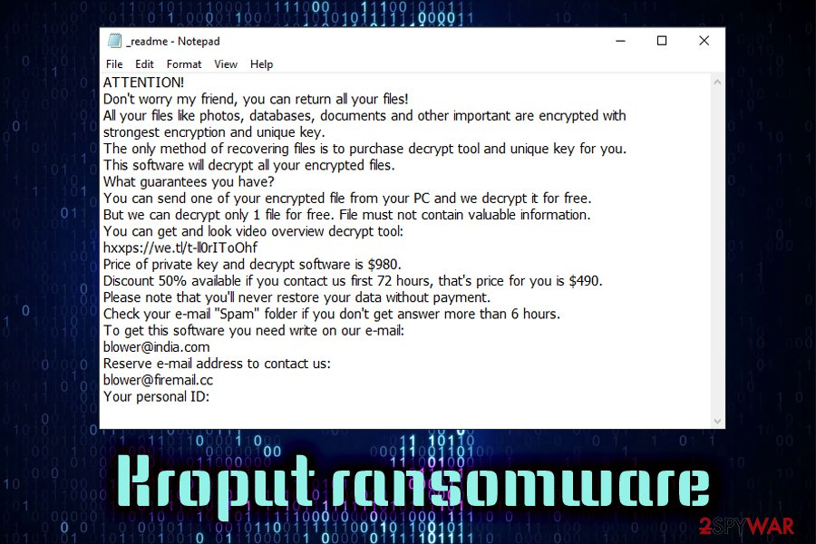 Remove Kroput ransomware (Removal Guide) - Quick Decryption