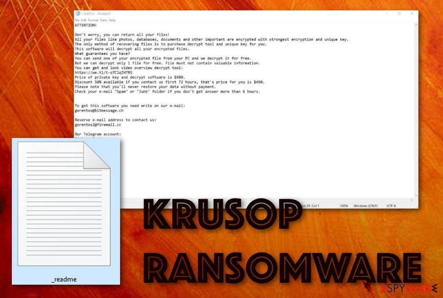 Krusop ransomware