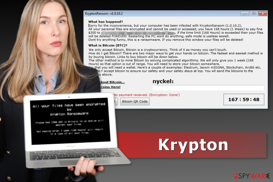 Picture of Krypton ransomware virus
