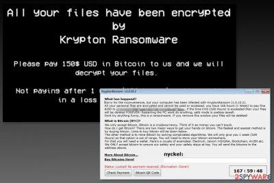 Image of Krypton ransomware