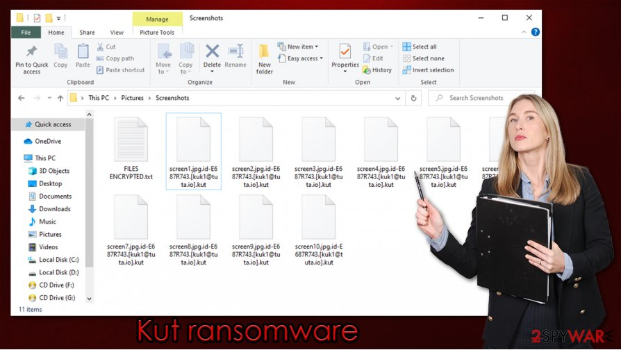 Kut ransomware virus
