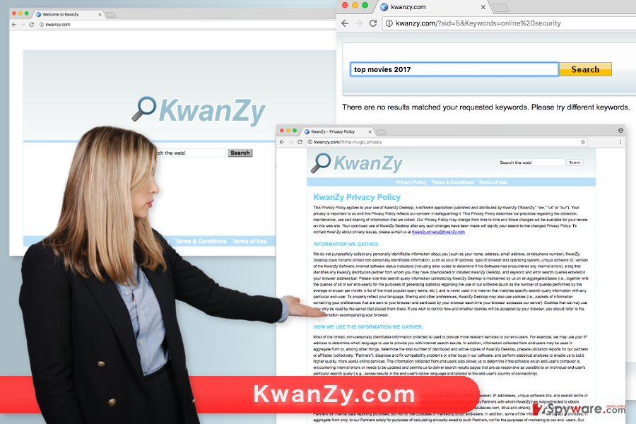 The picture of KwanZy.com virus