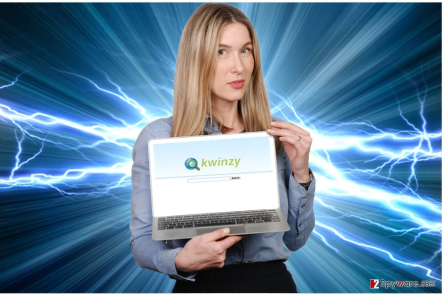 The picture revealing Kwinzy browser hijacker