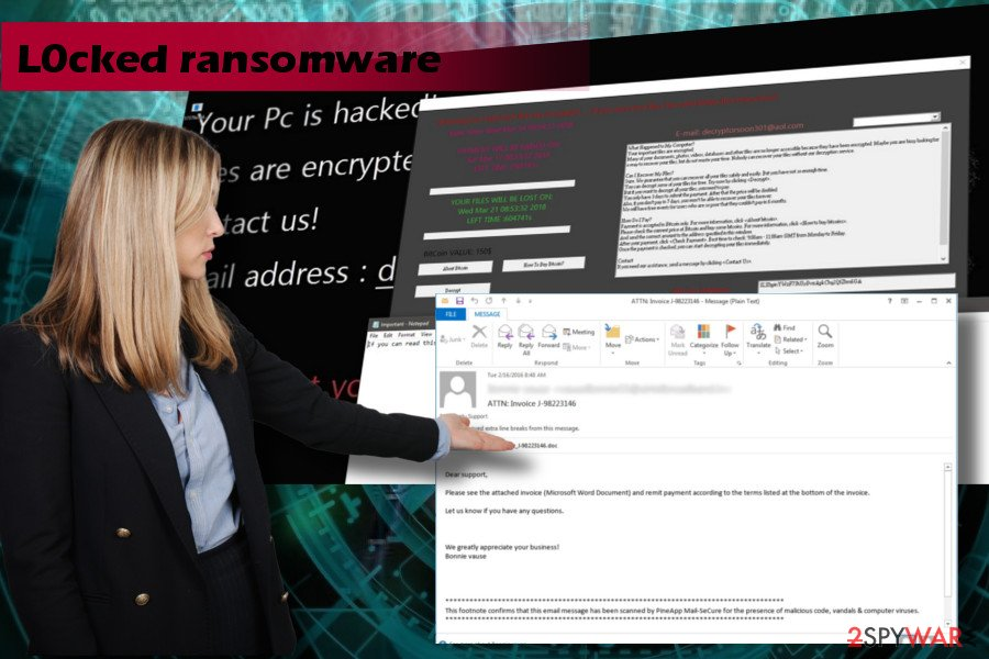 L0cked is a crypto-ransomware that demands to pay a ransom for a decryptor