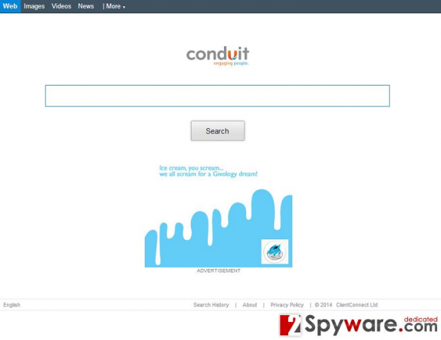 Lab.search.conduit.com virus snapshot