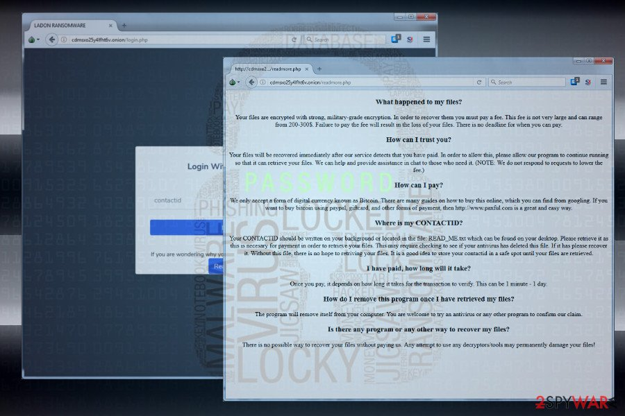 Ladon ransomware virus