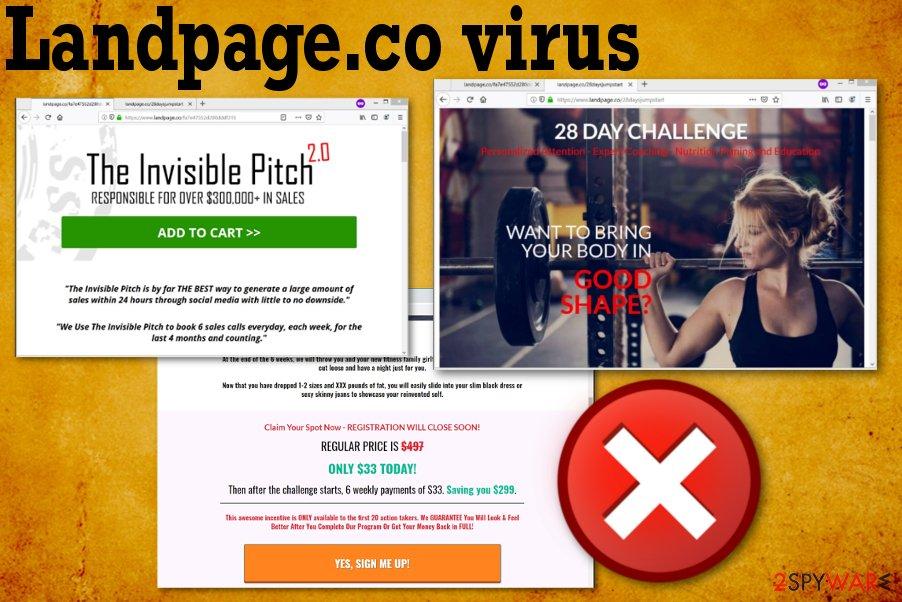 Landpage.co adware