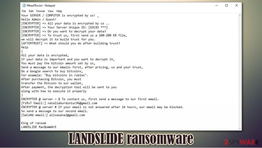LANDSLIDE ransomware