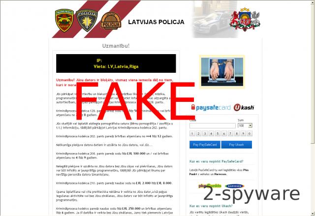 Latvijas Policijas Ukash Virus