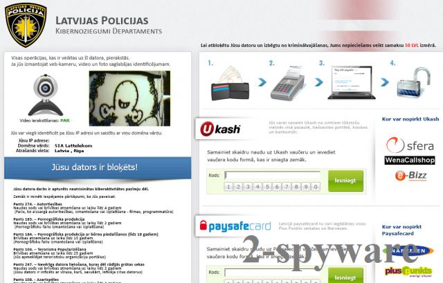 Latvijas Valsts Policija virus snapshot