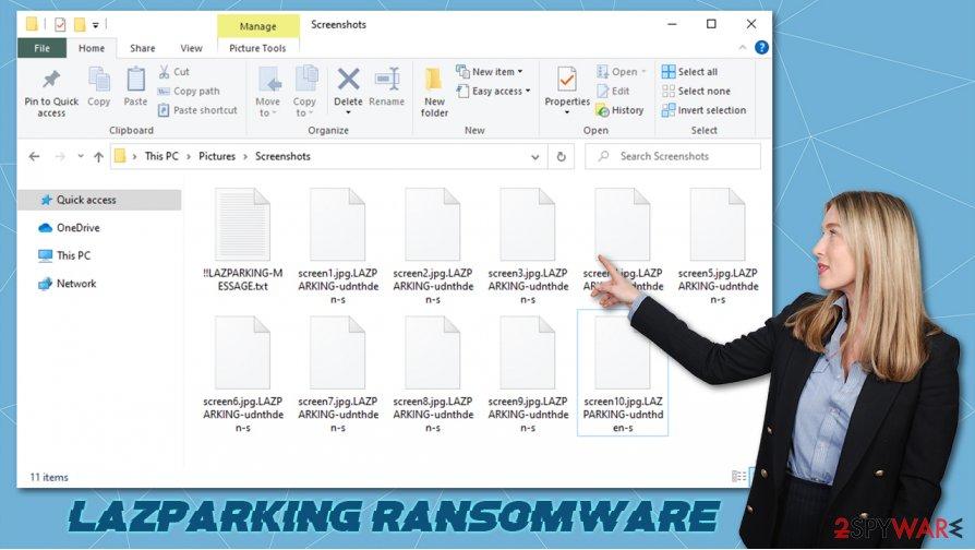 LAZPARKING ransomware virus