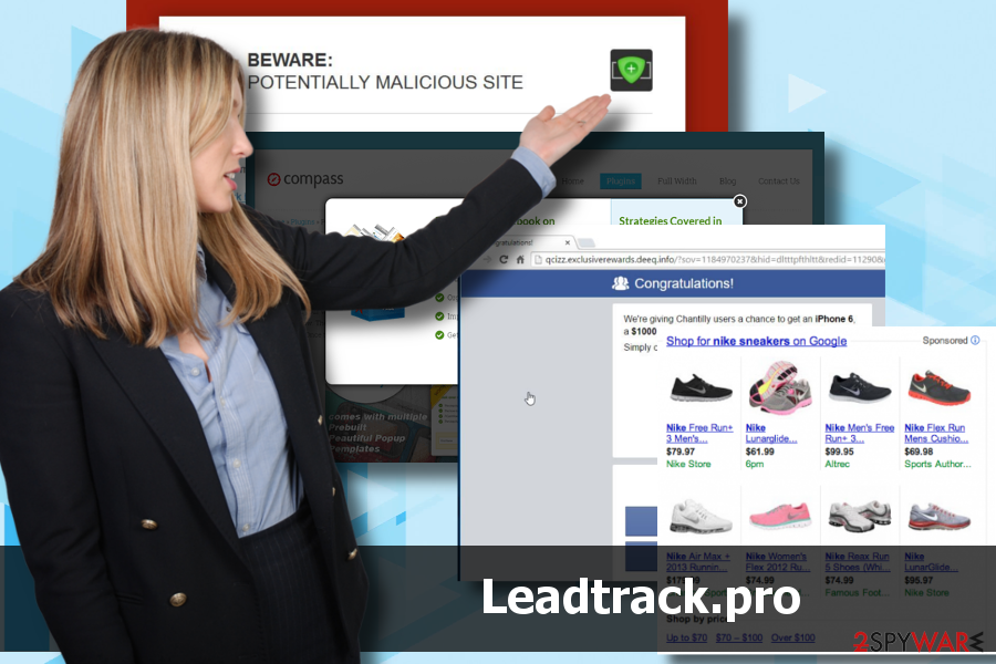 Leadtrack.pro is an advertising platform triggered by adware