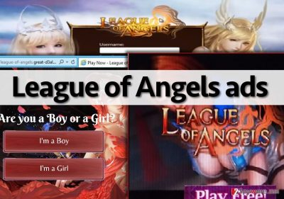 Examples of League of Angels ads