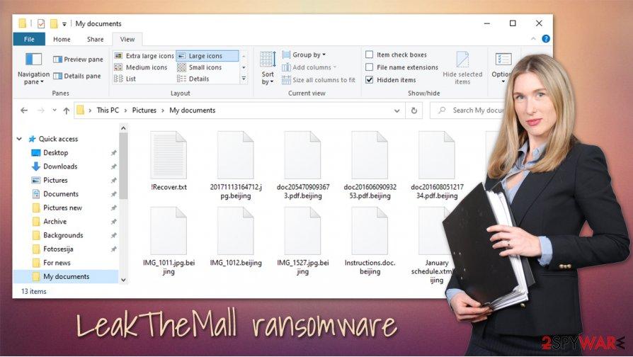 Leakthemall ransomware virus