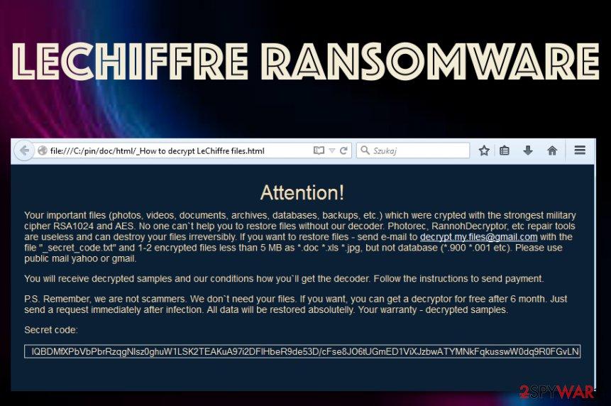 LeChiffre ransomware virus