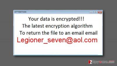 Legioner_seven@aol.com ransom note