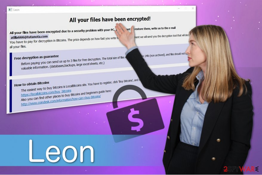 The illustration of Leon ransomware