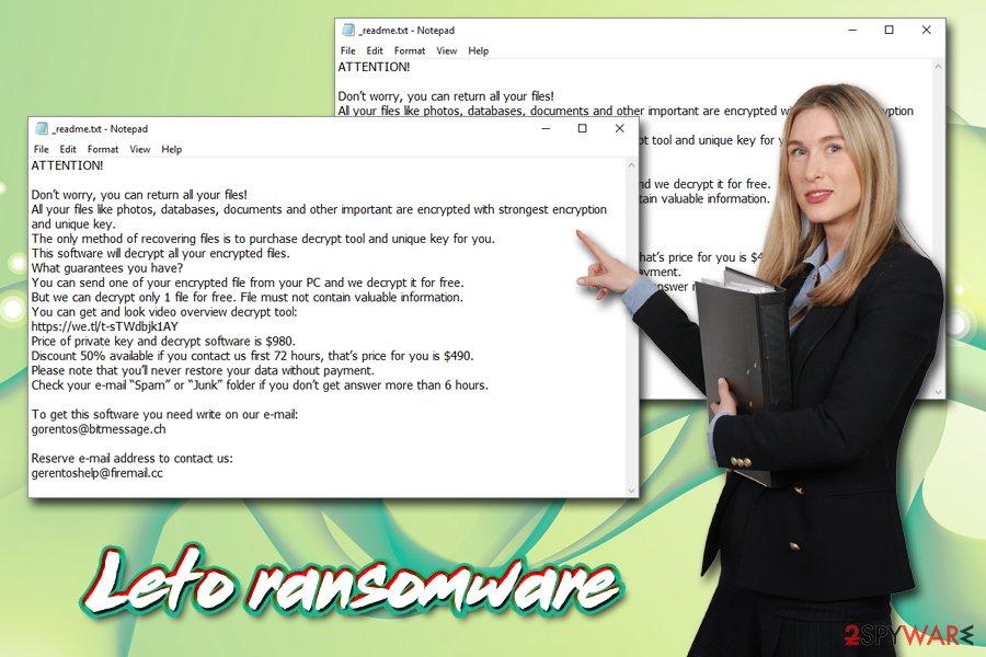 Leto ransomware virus